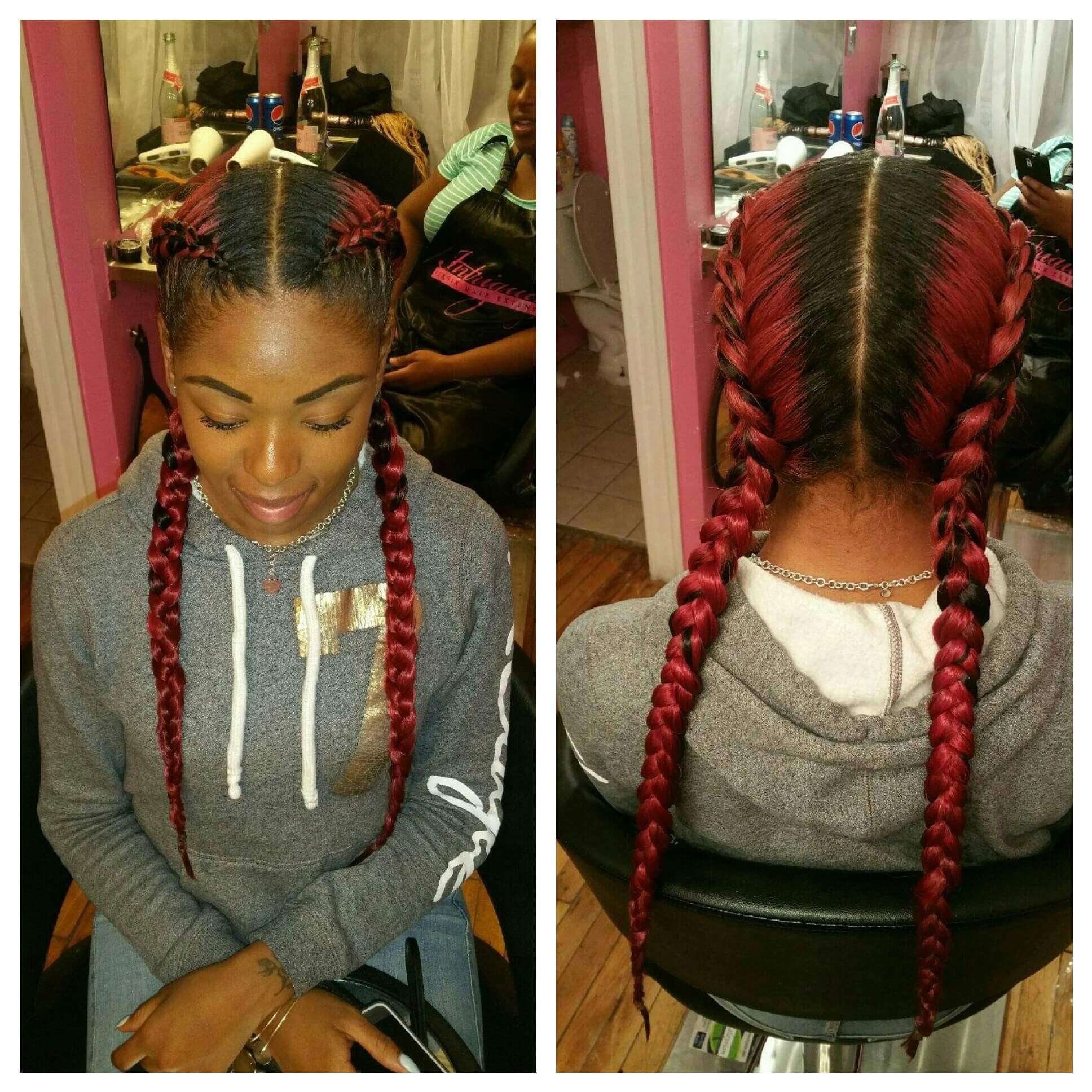 Two Braids using Intriguing Two Tone Braiding