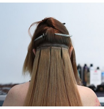 Tape in hair extension install