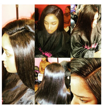 Closure Installation includes closure  with three hair extension bundles up to 24 inches