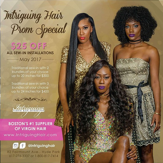 Prom Special all sew-ins are $25 Off